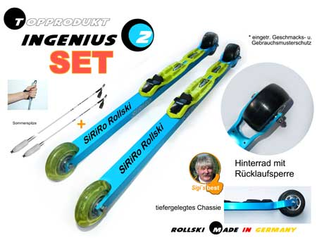 Allrounder Rollski  INGENIUS 2  SET mit Stock